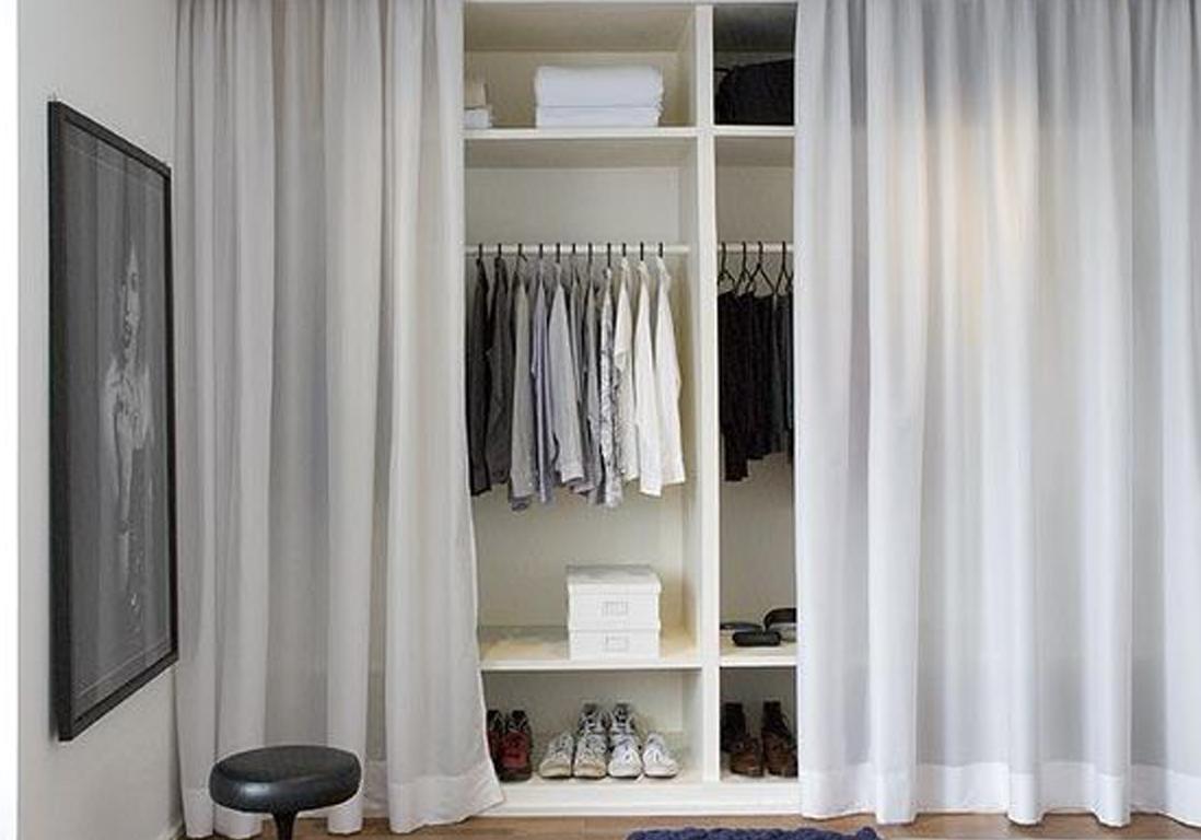 De simples rideaux pour cacher un dressing - Inspiration : 10 bonnes ...