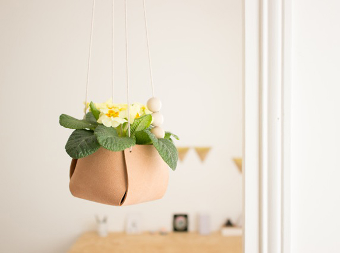 Diy Creez Un Cache Pot Suspendu En Cuir Elle Decoration
