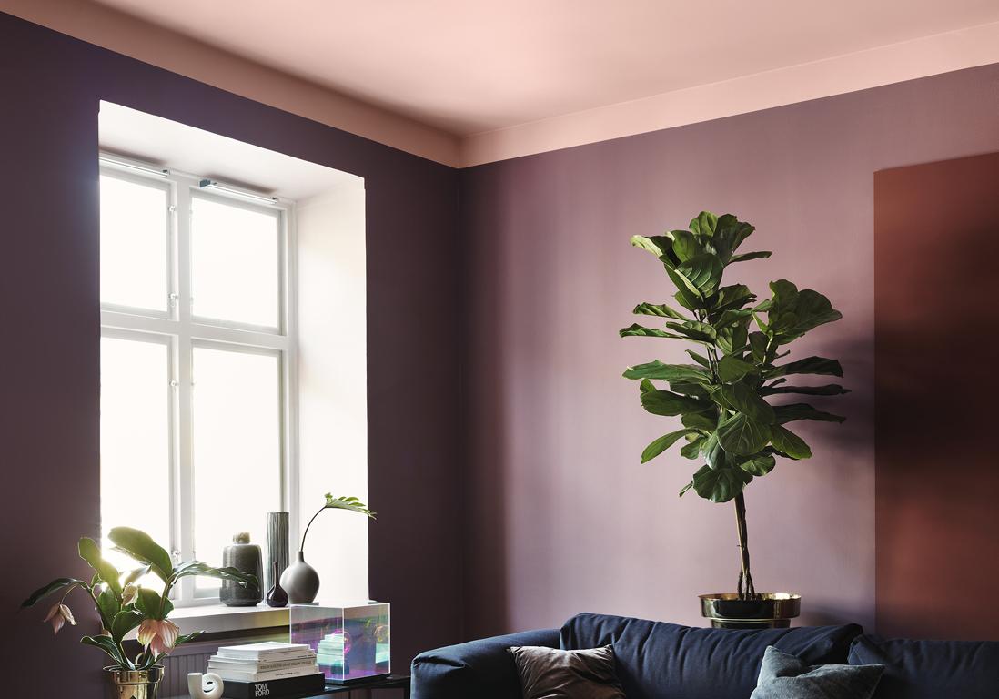 Salle De Bain Saumon un plafond en couleur pour réveiller une pièce - elle décoration