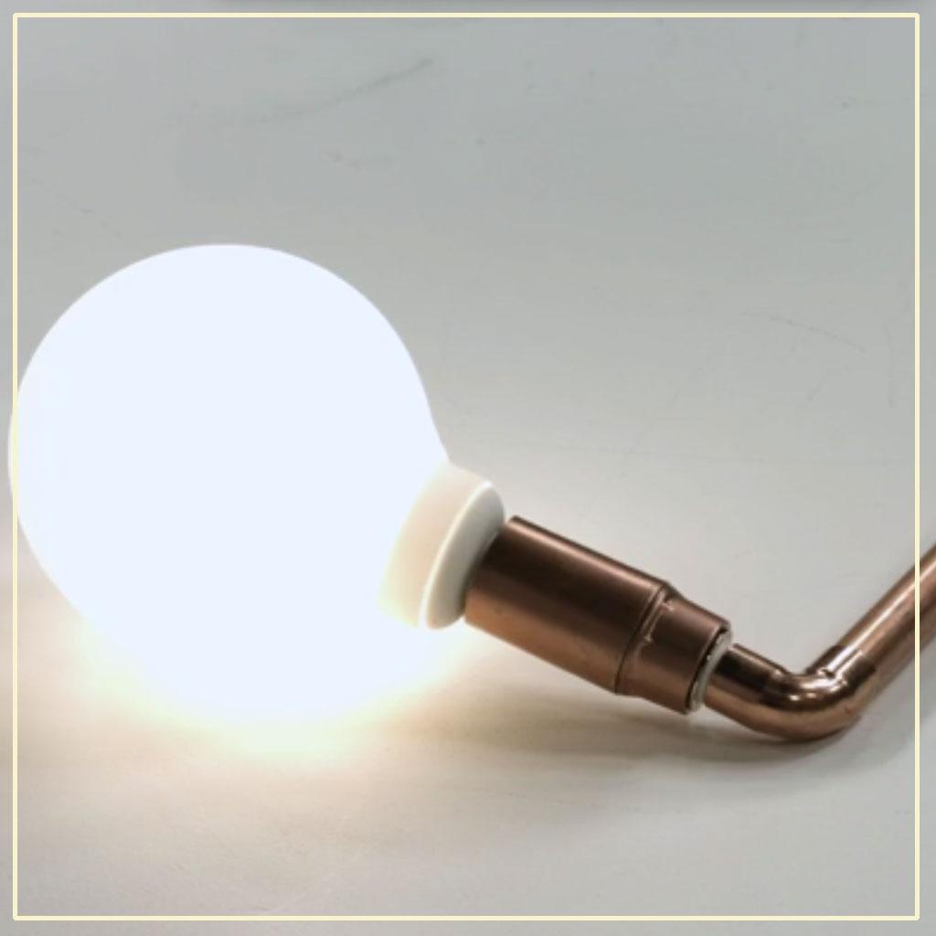 notre diy d co pour fabriquer une lampe en cuivre elle d coration. Black Bedroom Furniture Sets. Home Design Ideas