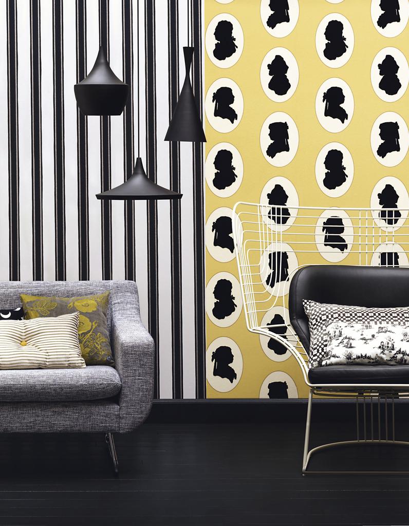 Papier Peint David Hicks 30 idées pour relooker vos murs - elle décoration