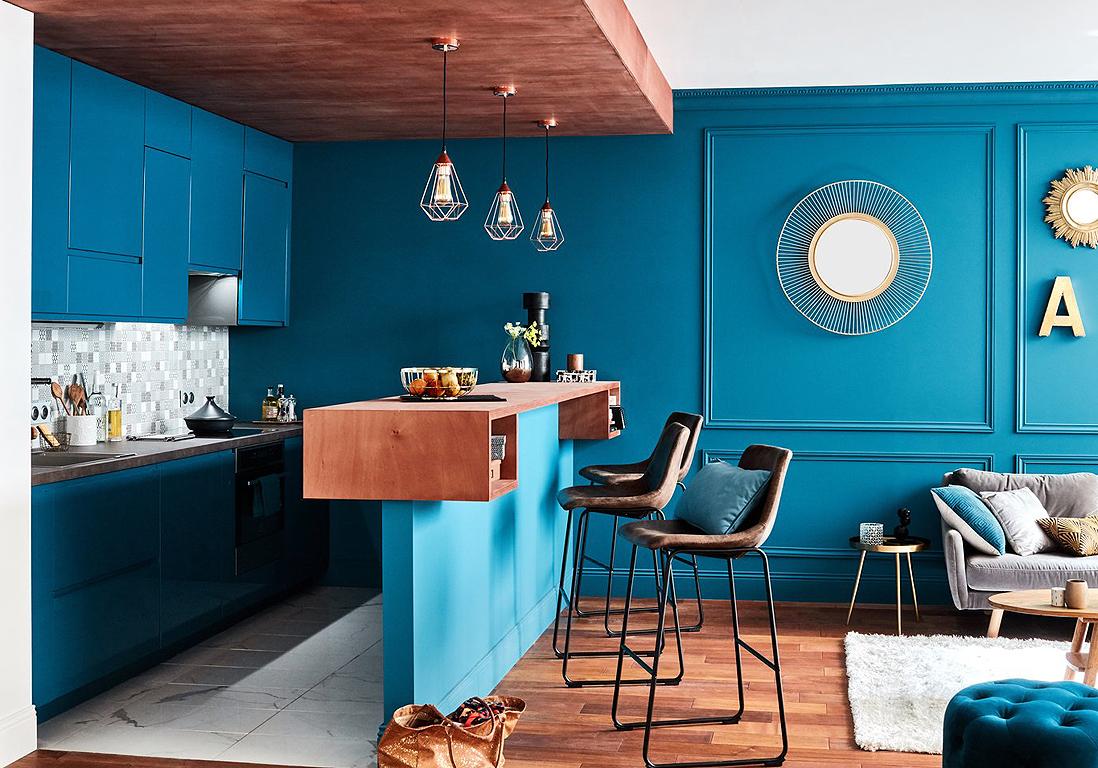 Salle De Bain Chocolat Turquoise bleu canard : la couleur dont tous les décorateurs raffolent
