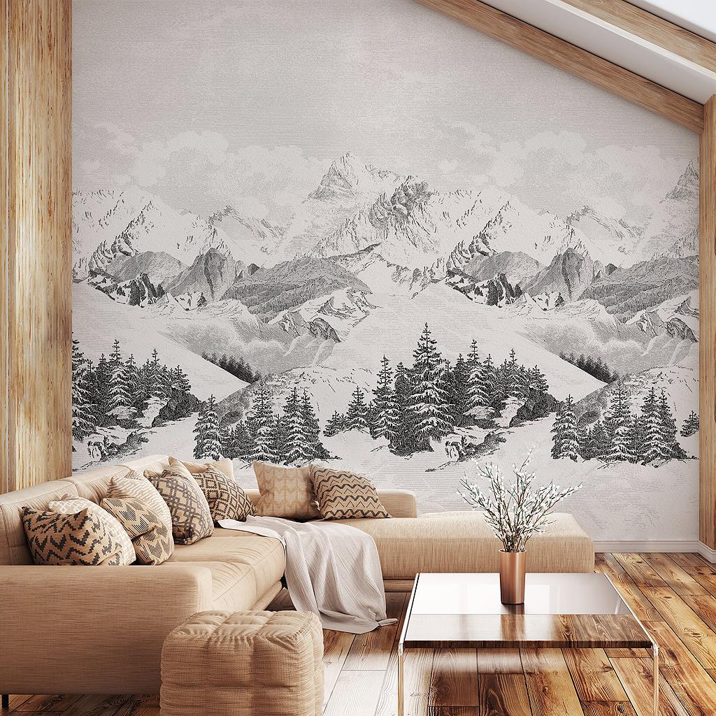 Papier Peint Panoramique Noir Et Blanc papier peint xxl noir et blanc - des papiers peints xxl pour