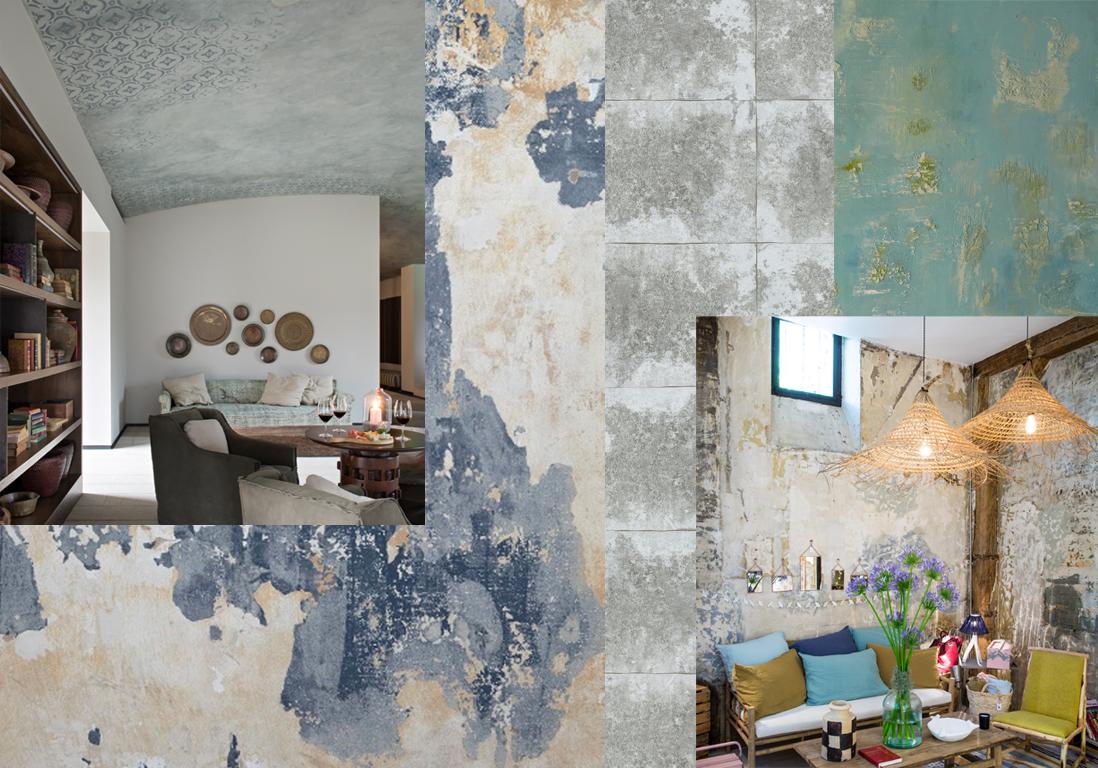 Murs Effet Patine A L Ancienne Tendance Les Murs Uses Et Patines