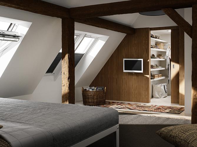 35 chambres sous les combles elle d coration - Amenagement grenier en chambre ...