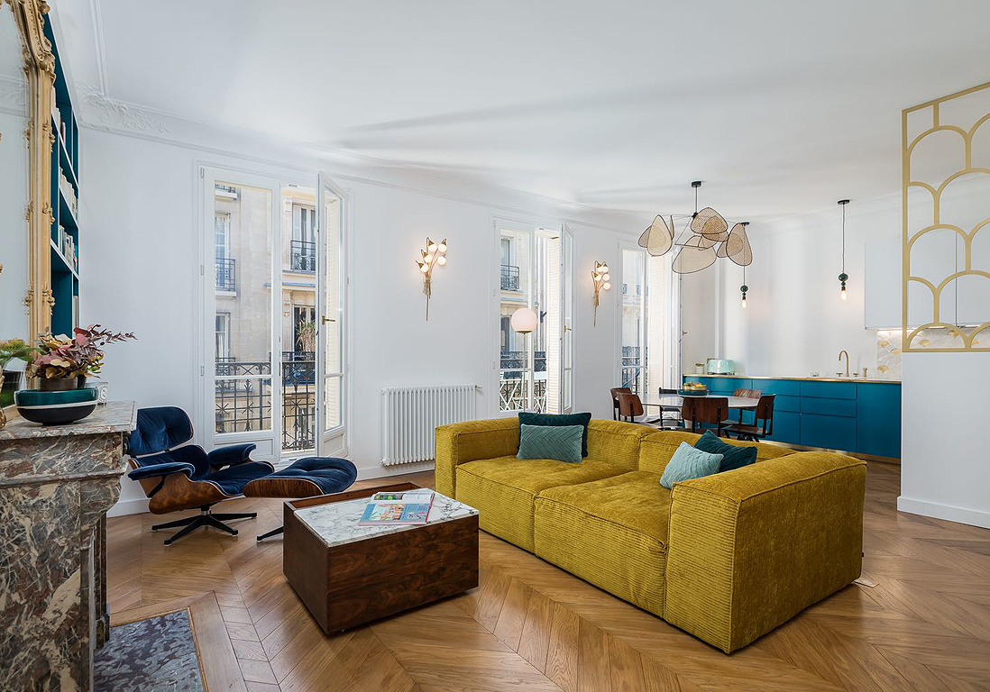 Avant Apres La Transformation De Cet Appartement Haussmannien Est Bluffante Elle Decoration