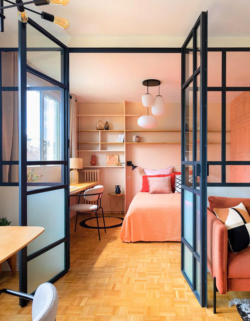 Avant/Après : un petit appartement 3 pièces des 60's aux airs méditerranéens