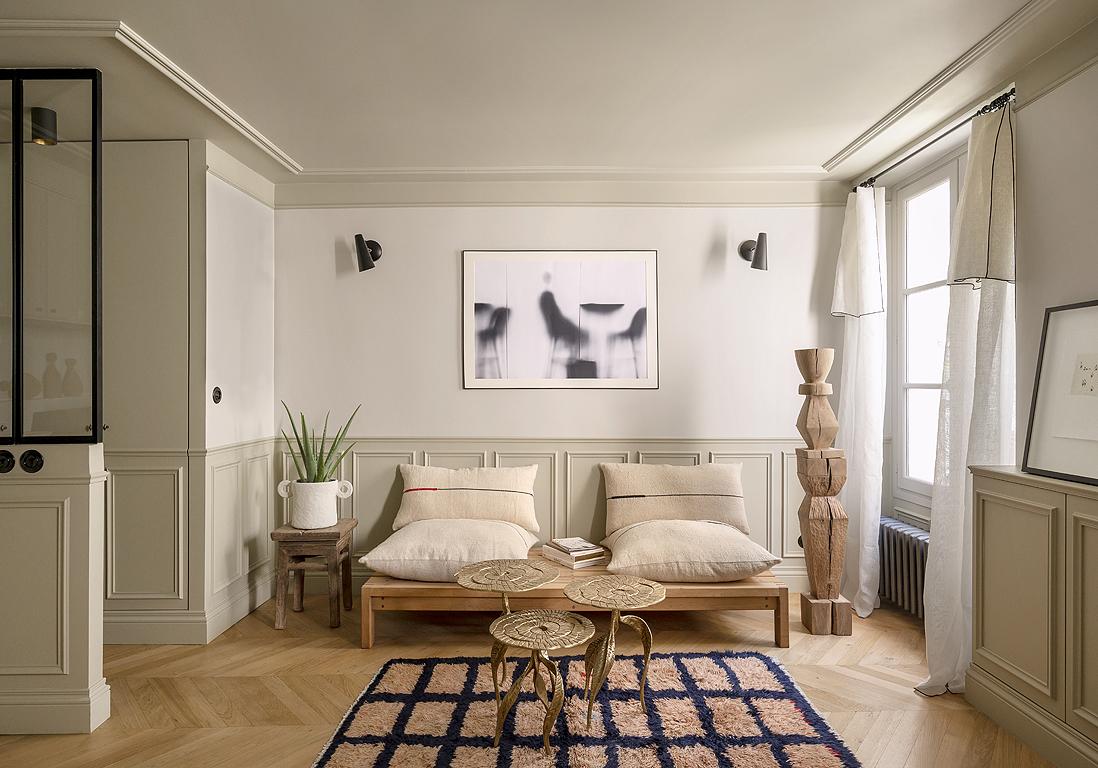 Amenager Un Salon De 40M2 coup de cœur pour ce 40m2 bien pensé à l'âme parisienne