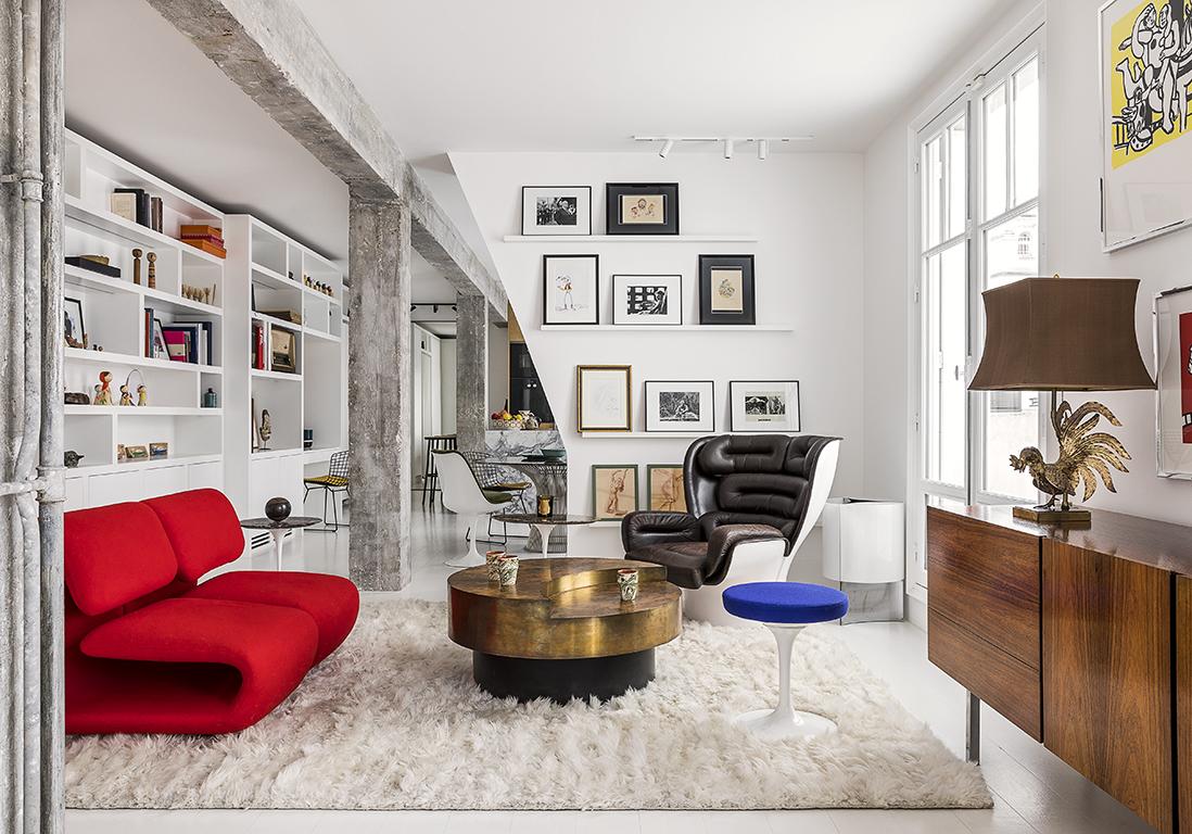 Petite surface : un appartement parisien de 80 m2 décloisonné devient une immense suite - Elle Décoration