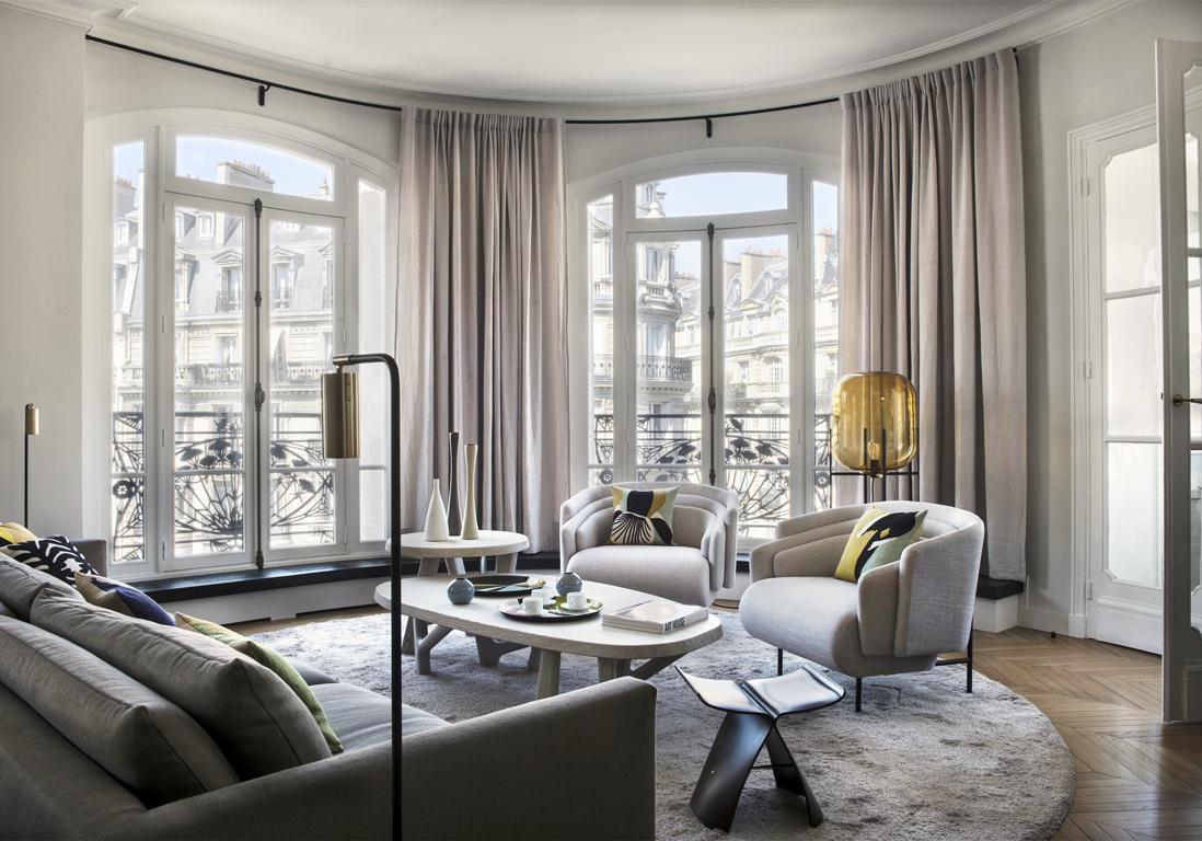 Un appartement haussmannien moderne et tr s l gant elle Decoration appartement moderne