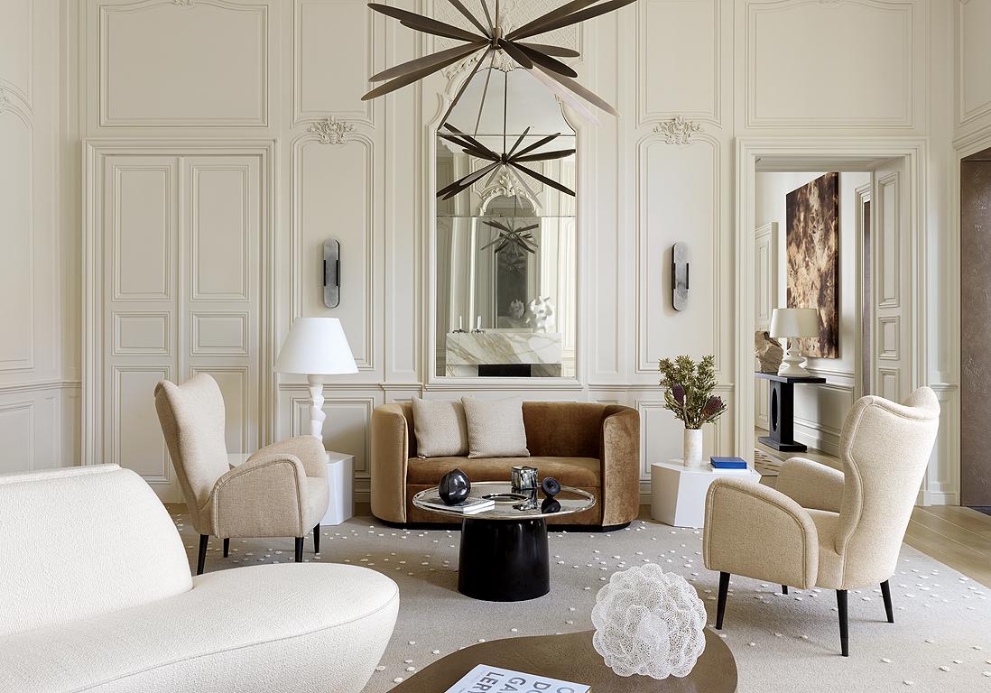 Suspension Hauteur Sous Plafond visite privée : un hôtel particulier immaculé - elle décoration