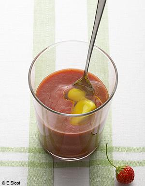 Gaspacho de fraises gla on olive pour 4 personnes for 100 fiches cuisine de elle