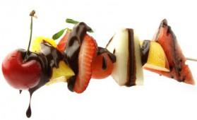 brochette de fruits frais au chocolat