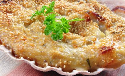 Gratin de noix de saint jacques pour 3 personnes - Comment cuisiner des noix de saint jacques ...