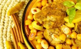 Tajine de poulet aux mirabelles de Lorraine