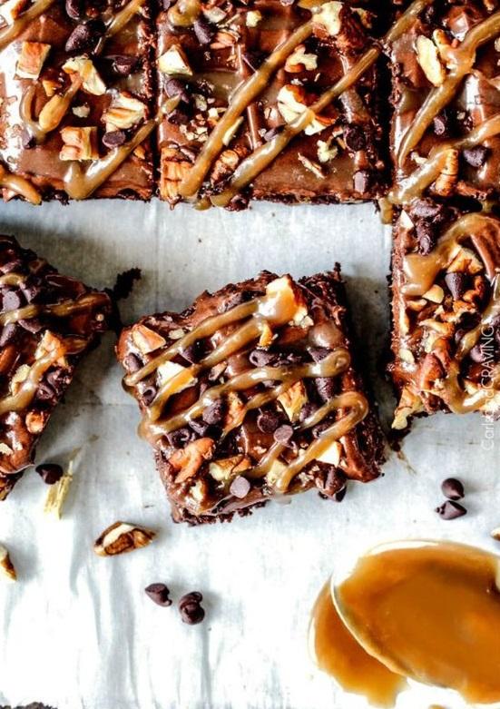 Brownie américain au caramel noix de pécan - 10 recettes