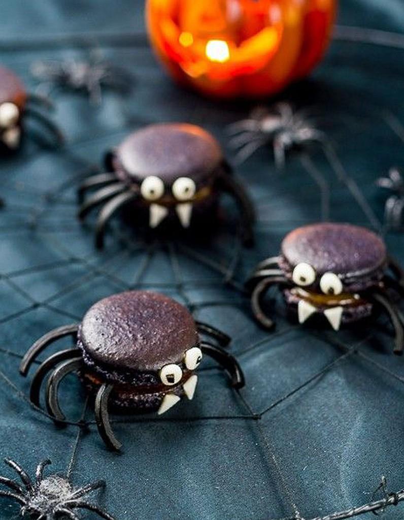 Araignees macaron a la reglisse de Halloween