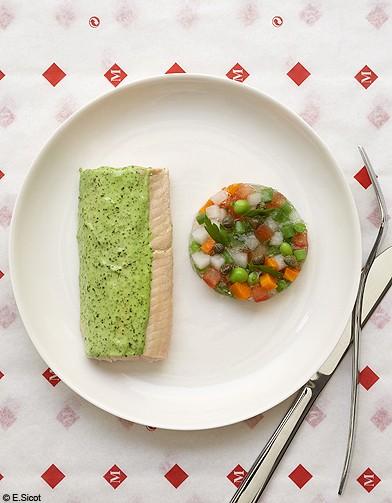 saumon froid la parisienne les 6 recettes moins de 10 de yannick all no elle table. Black Bedroom Furniture Sets. Home Design Ideas