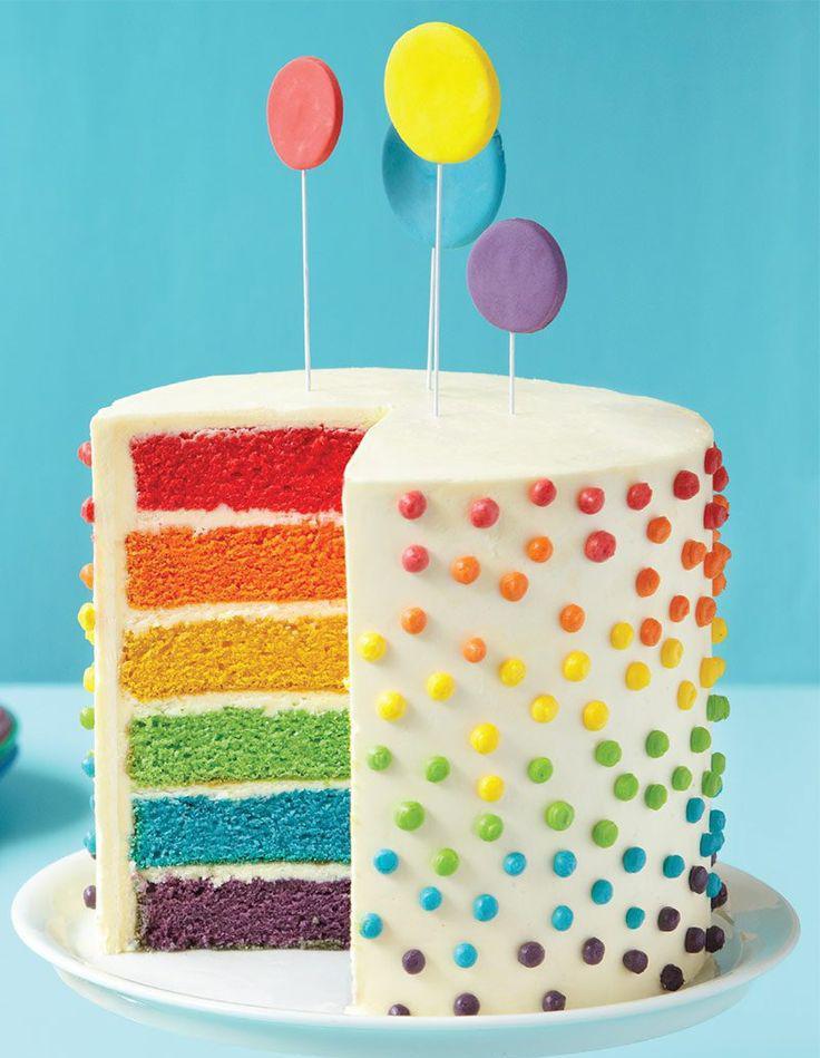 Rainbow Cake 17 Rainbow Cake Bluffants Elle A Table