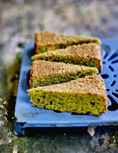 Gâteau amandine au matcha - Cuisinez le thé matcha, c'est