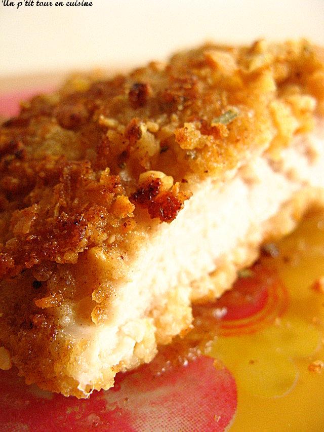 Escalopes De Poulet Panees Aux Corn Flakes Cacahuetes Et Flocons D