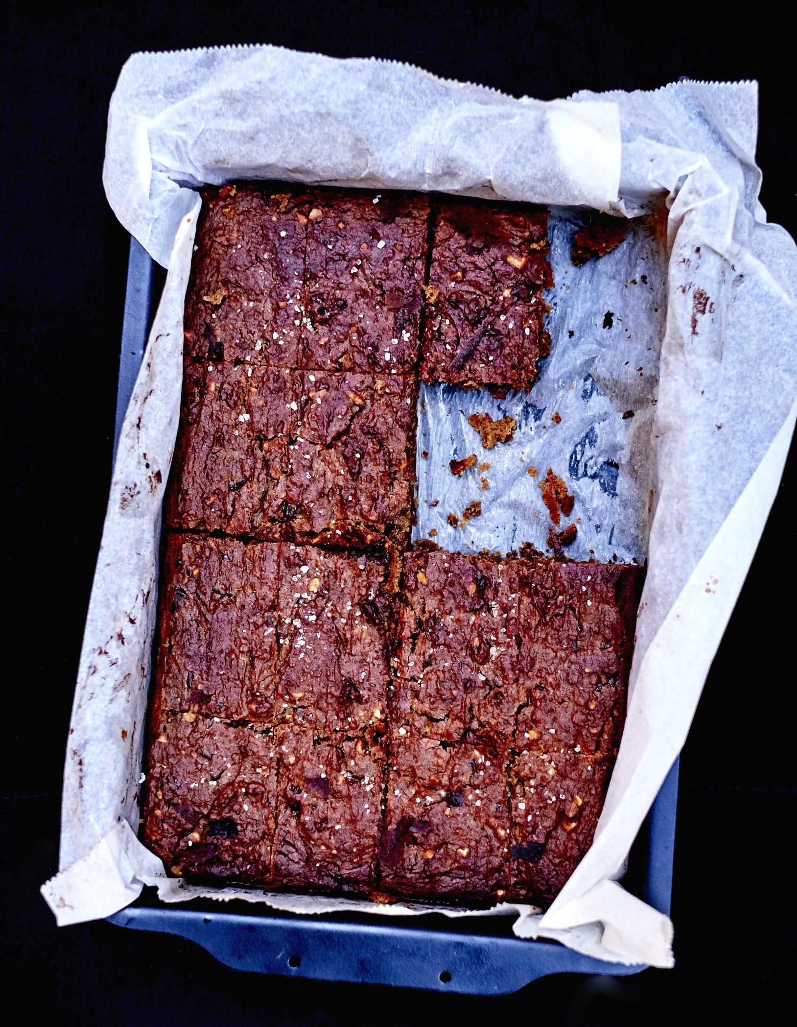 Brownies Sans Gluten Beurre De Cacahuète Et Chocolat Pour 8