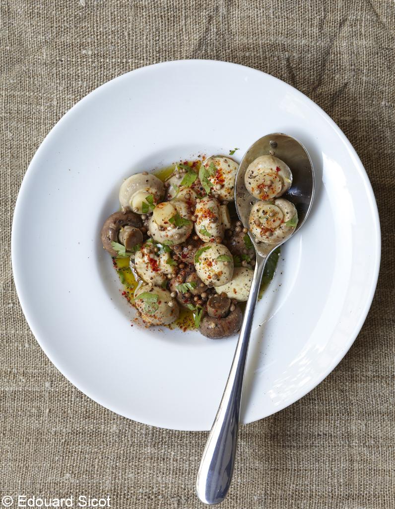Chaise Cuisine Framboise : Champignons à la grecque pour 4 personnes recettes elle à table[R