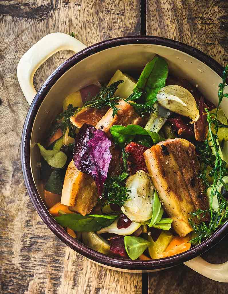 Cocotte de légumes d\u2019hiver au porc