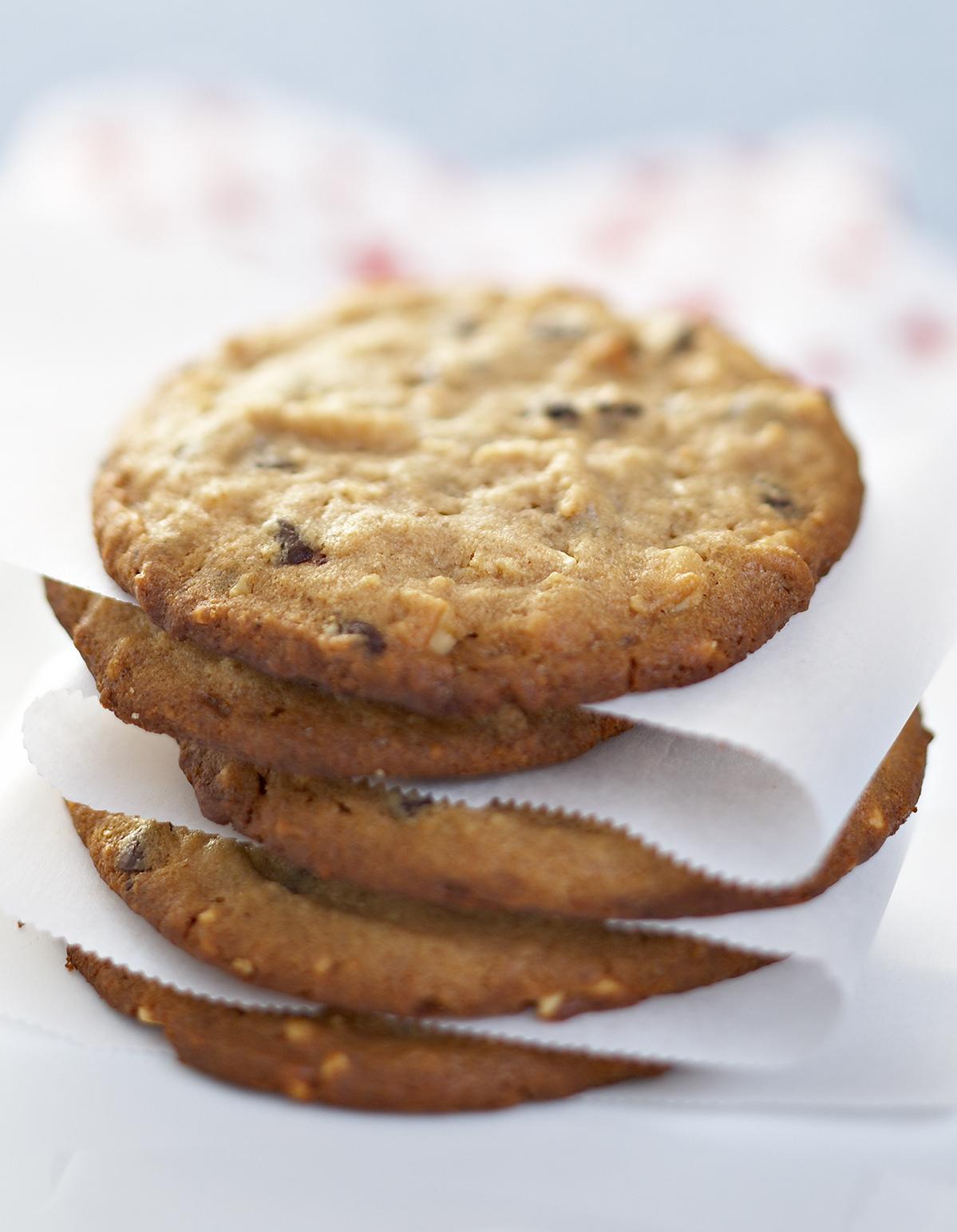 cookies au beurre de cacahu tes et aux p pites de chocolat. Black Bedroom Furniture Sets. Home Design Ideas