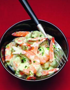 Crevettes sauce aux herbes fraiches pour 6 personnes