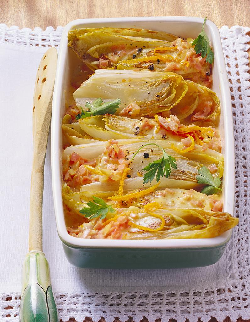 Endives au jambon facon r gime pour 4 personnes recettes - Recettes cuisine regime mediterraneen ...