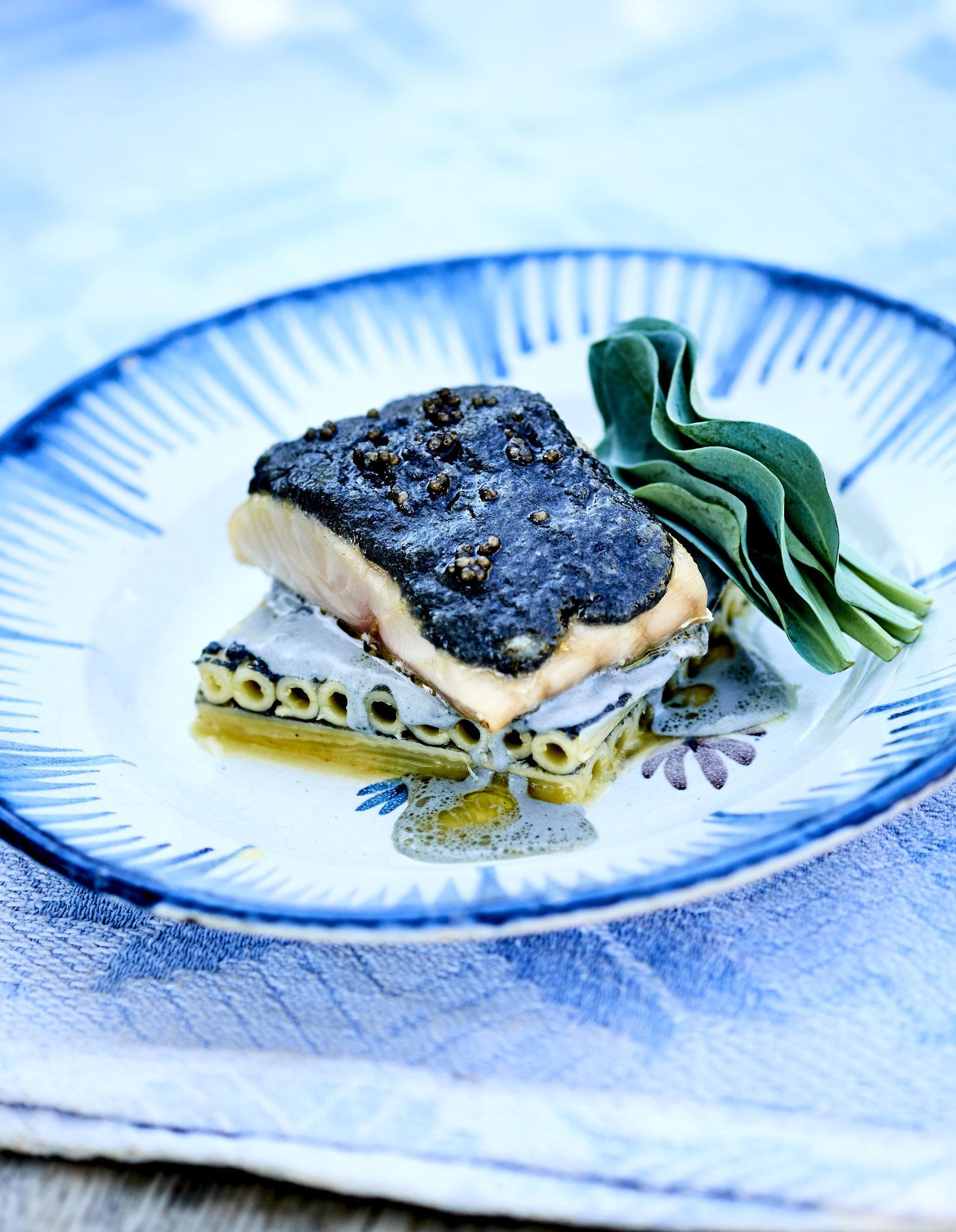 Esturgeon Au Beurre De Caviar Macaronis Au Caviar Pour 4
