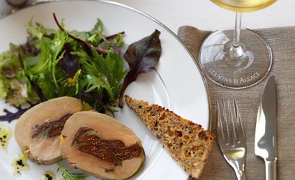 foie gras mi cuit aux figues et cachous pour 4 personnes. Black Bedroom Furniture Sets. Home Design Ideas