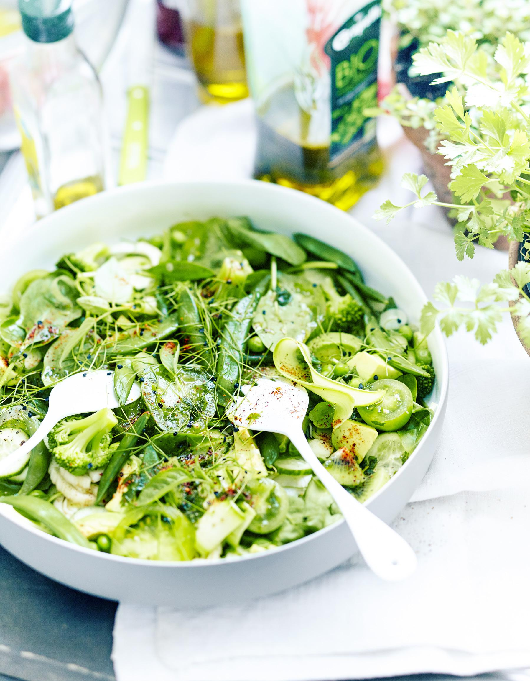 idée repas 6 personnes Green salad pour 6 personnes   Recettes Elle à Table idée repas 6 personnes