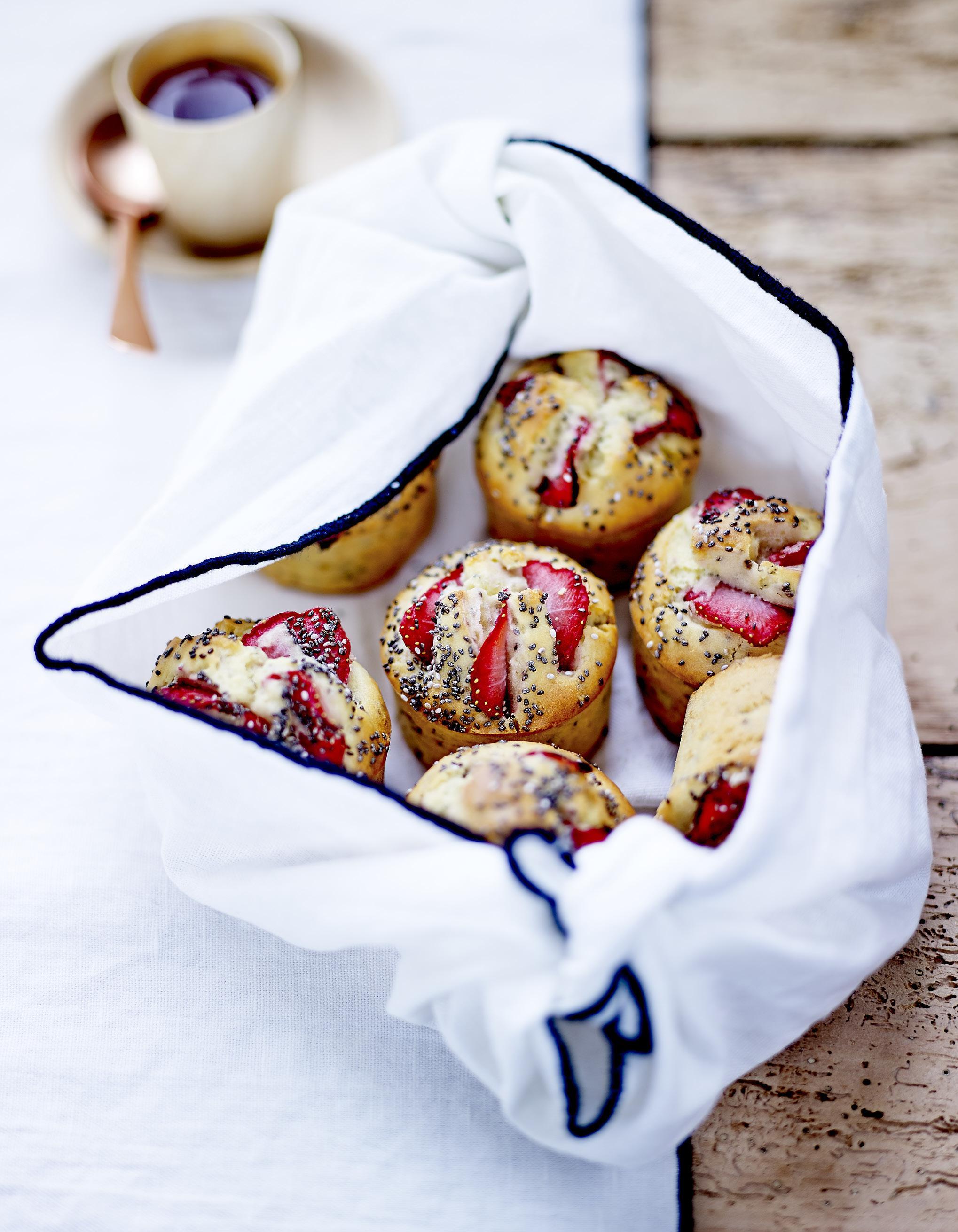 Comment Faire Des Graines De Fraises muffins aux fraises et graines de chia