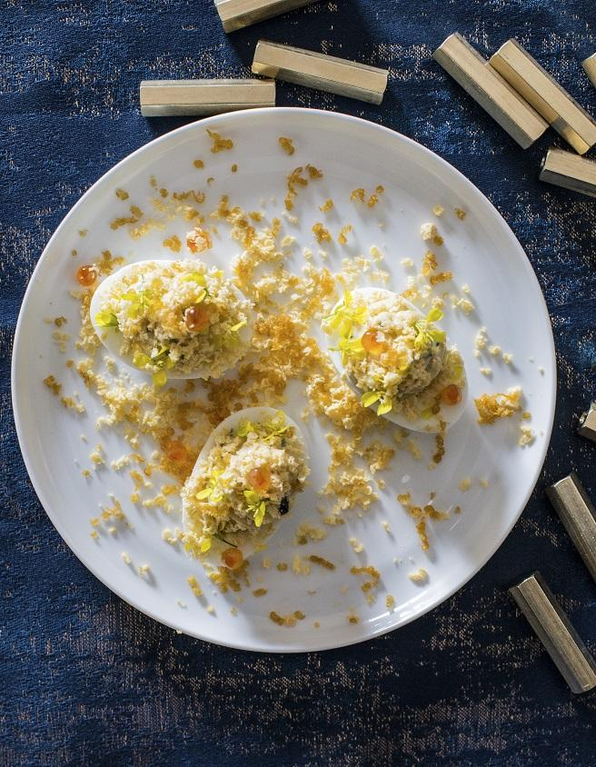 Oeufs mimosa oeufs de truite et poutargue pour 4 personnes recettes elle table - A bon verre bonne table recettes ...