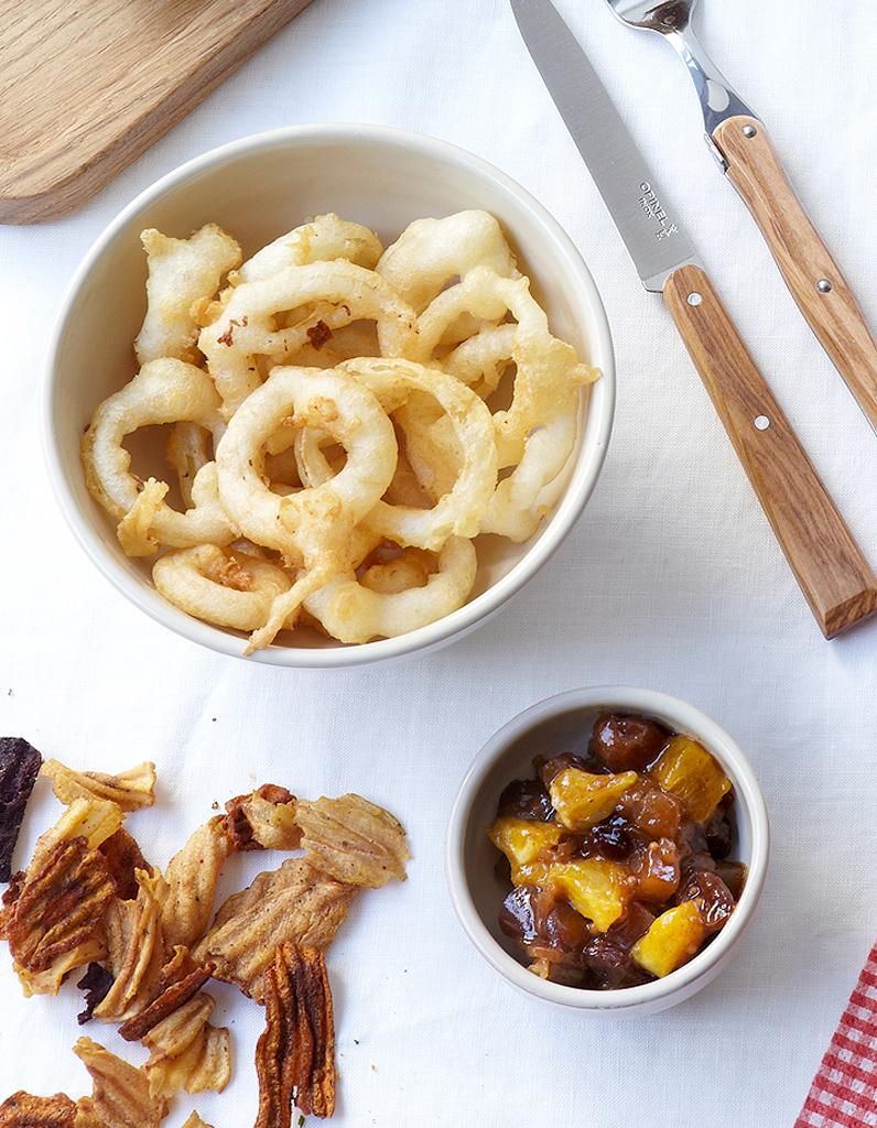 onion rings pour 6 personnes recettes elle table. Black Bedroom Furniture Sets. Home Design Ideas
