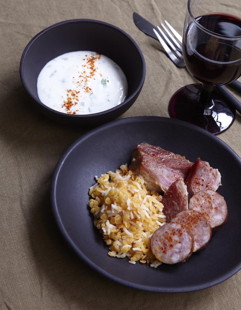402861017b Petit salé, riz et lentilles corail pour 6 personnes - Recettes Elle ...
