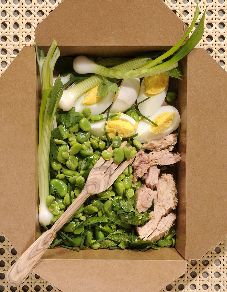 Salade de fèves pour 6 personnes - Recettes Elle à Table