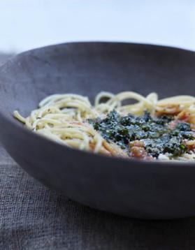 Salsa au pesto et spaghettata minute