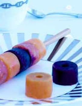 """Sucettes de légumes glacés et caviar """"Eggxiting"""" Pétrossian"""