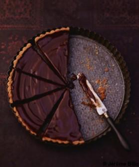 tarte au chocolat pour 6 personnes recettes elle table elle table. Black Bedroom Furniture Sets. Home Design Ideas