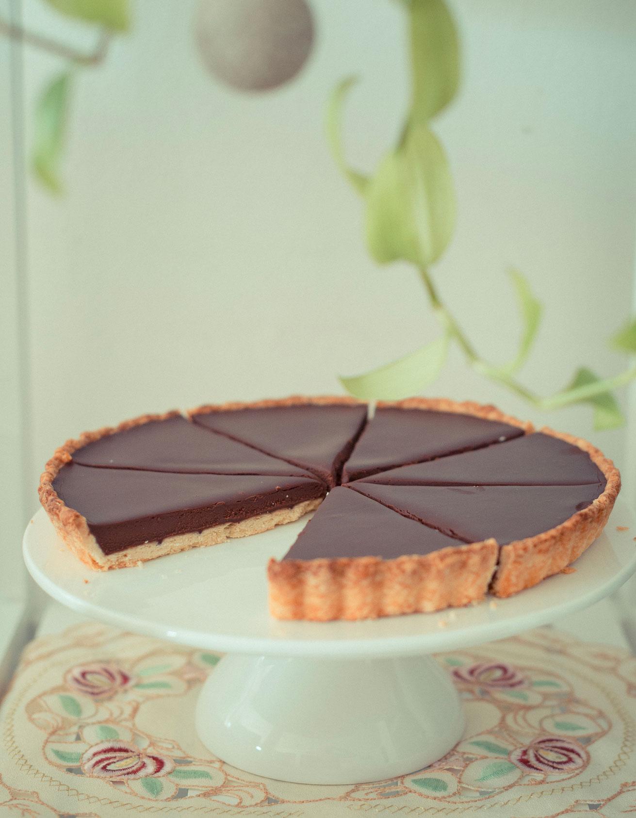 tarte au chocolat facile thermomix pour 6 personnes recettes elle table. Black Bedroom Furniture Sets. Home Design Ideas