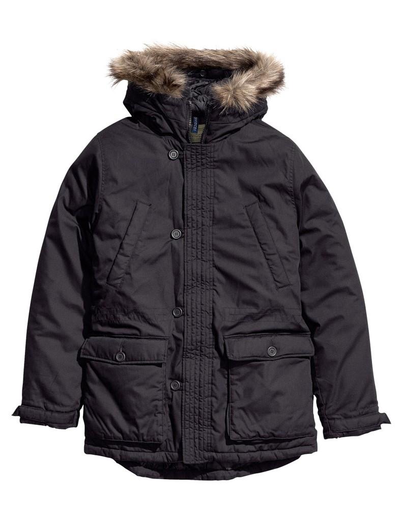 parka h m nos 20 manteaux anti froid elle man. Black Bedroom Furniture Sets. Home Design Ideas
