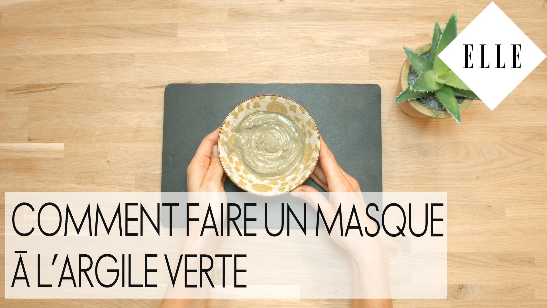diy comment faire un masque l argile verte elle vid os. Black Bedroom Furniture Sets. Home Design Ideas