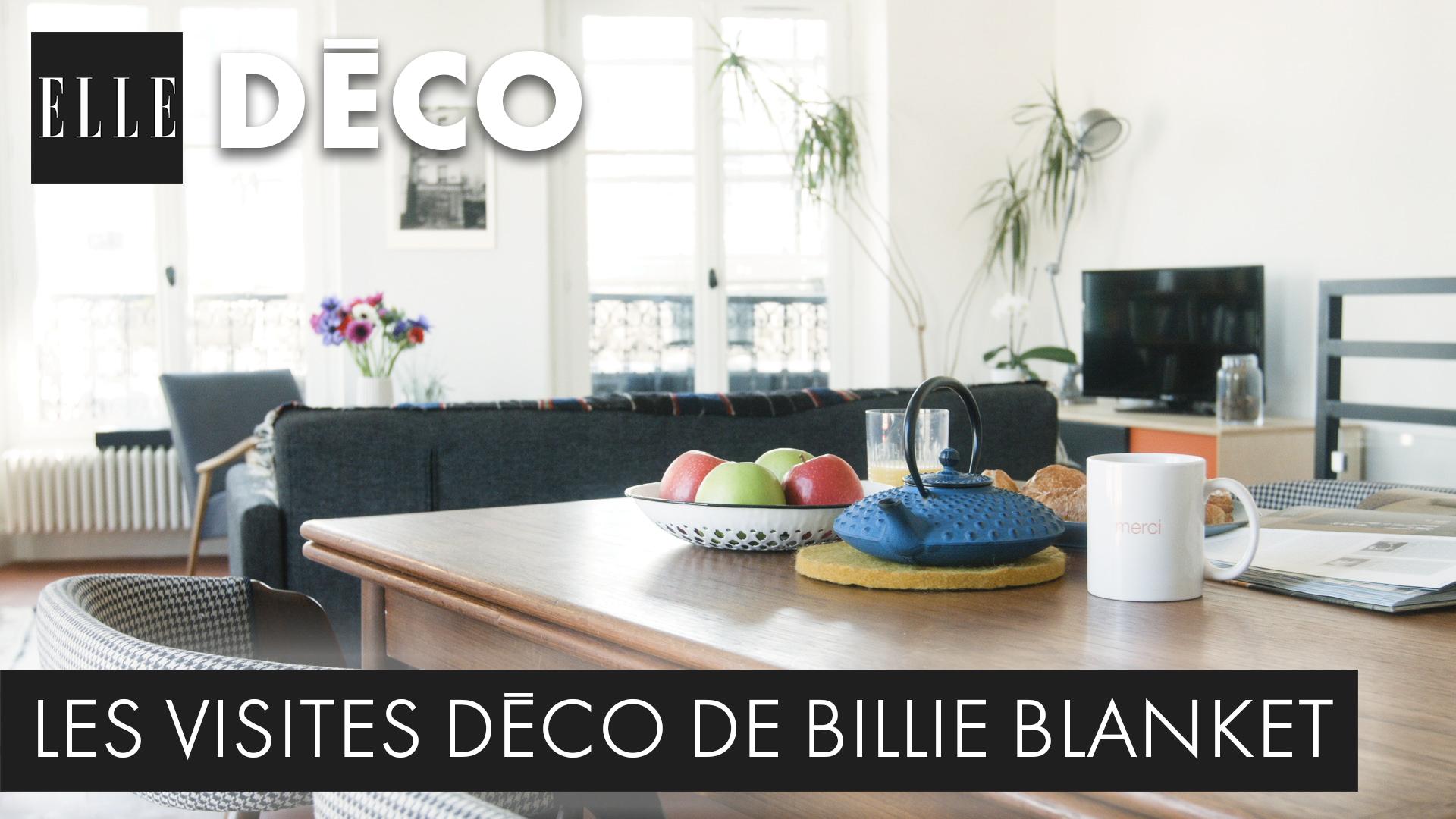 visite d co de billie blancket un appart parisien de 60 m ultra malin elle vid os. Black Bedroom Furniture Sets. Home Design Ideas