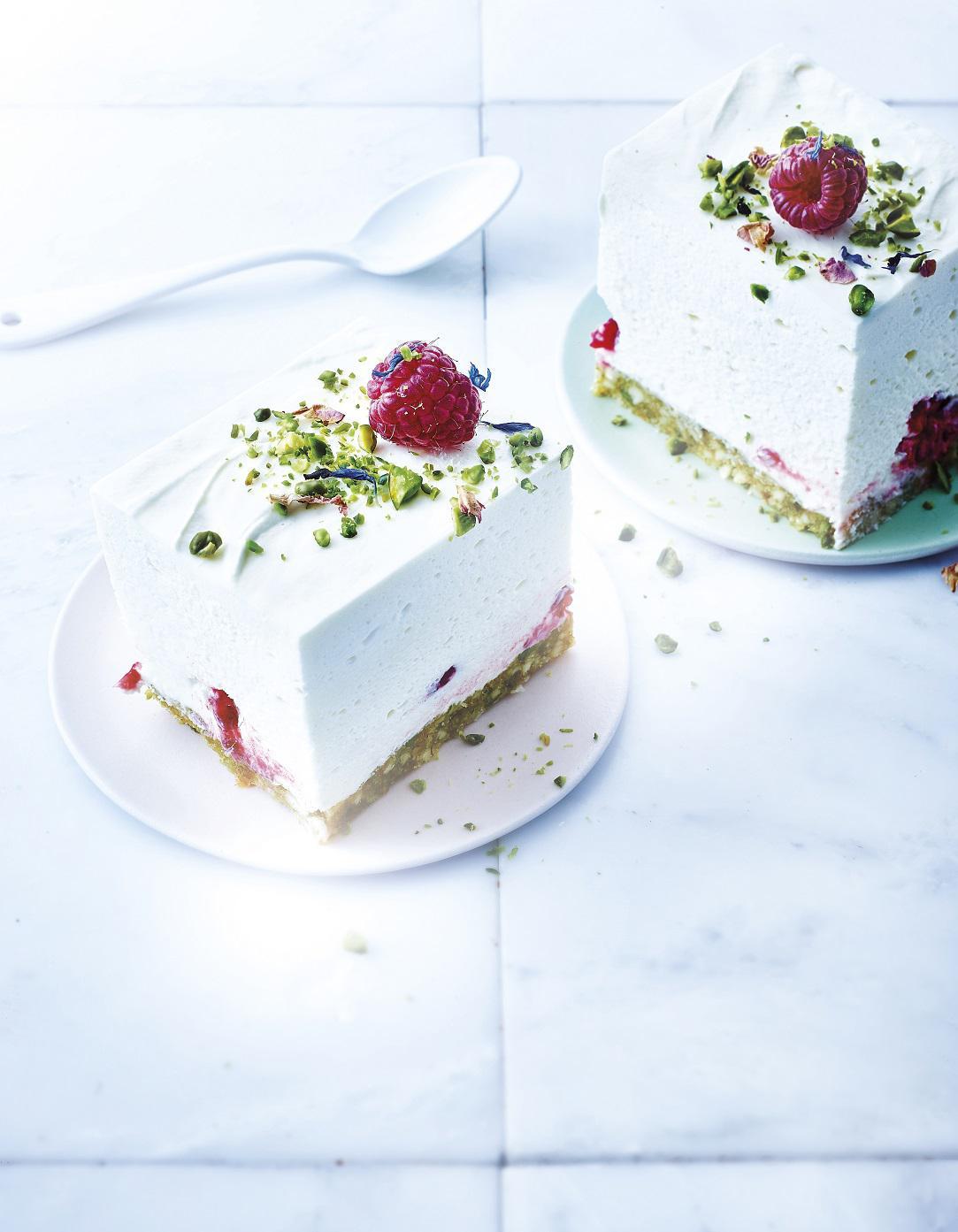 cheesecake sans cuisson au chocolat blanc pistaches et. Black Bedroom Furniture Sets. Home Design Ideas