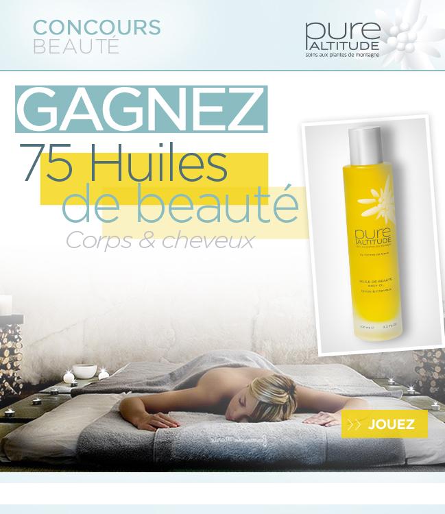 75 huiles de beauté Pure Altitude