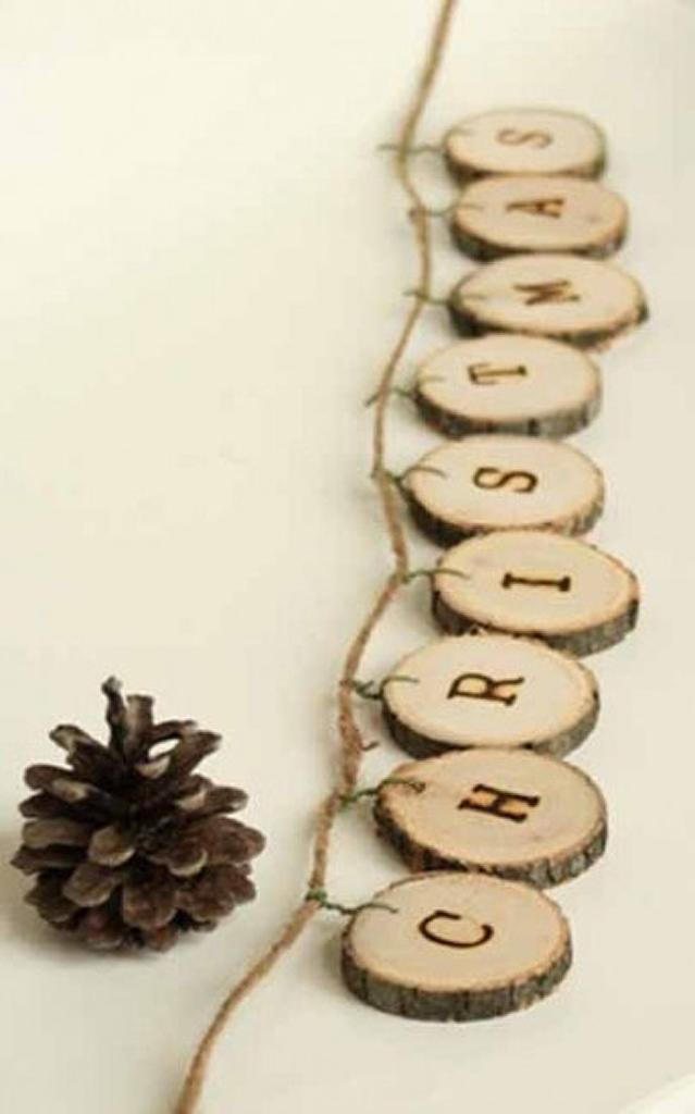 guirlande noel en bois