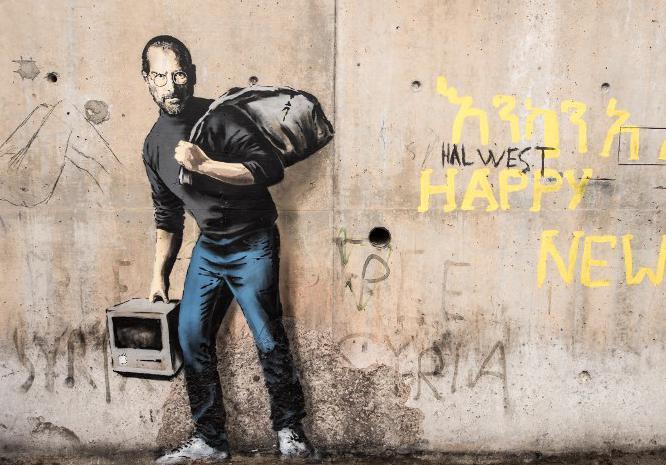Calais : l'hommage de Banksy aux réfugiés